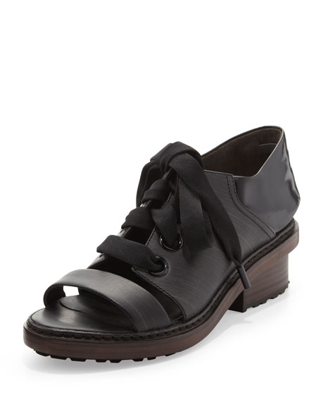 Floreana Lace-Up Loafer, Ebony