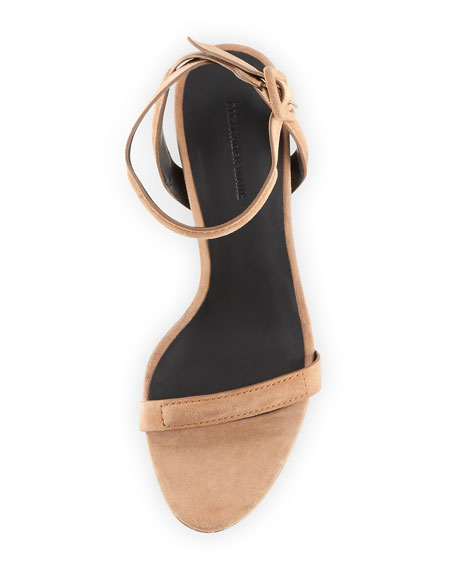 Antonia Ankle-Wrap Sandal, Beige