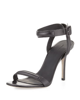Alexander Wang Antonia Ankle-Wrap Sandal, Black