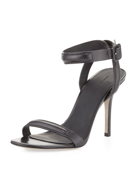 Antonia Ankle-Wrap Sandal, Black
