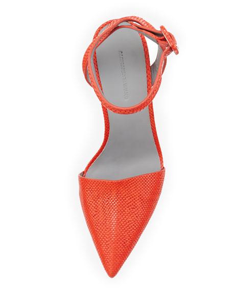 Lovisa Snake-Print Ankle Wrap Pump