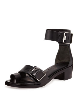 Alexander Wang Jeisa Buckle City Leather Sandal