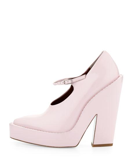Manuel Runway Platform Mary Jane, Gummy Pale Pink
