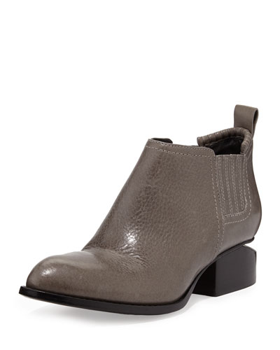 Alexander Wang Kori Leather Cutout Oxford, Gunpowder