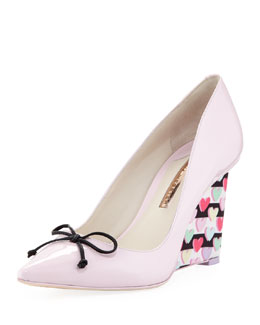 Sophia Webster Lola Heart-Wedge Pointed Pump