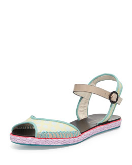 Sophia Webster Marcela Flat Espadrille Sandal, Putty