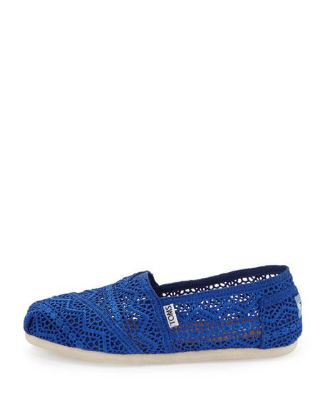 Crochet Slip-On, Cobalt