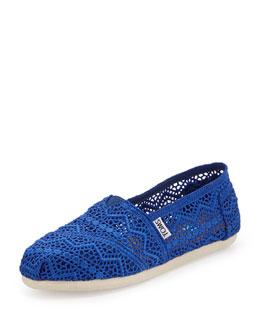 TOMS Crochet Slip-On, Cobalt