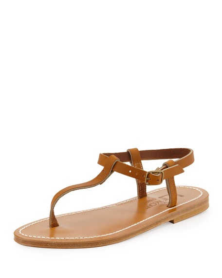 Petrone Leather Thong Sandal, Natural