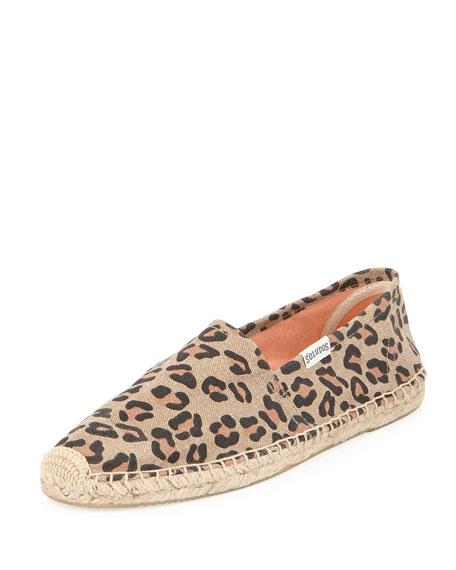 Original Leopard-Print Espadrille Flat, Tan