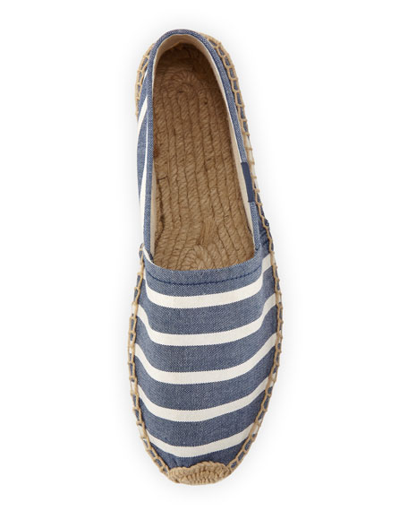 Original Striped Espadrille Canvas Flat, Navy/White