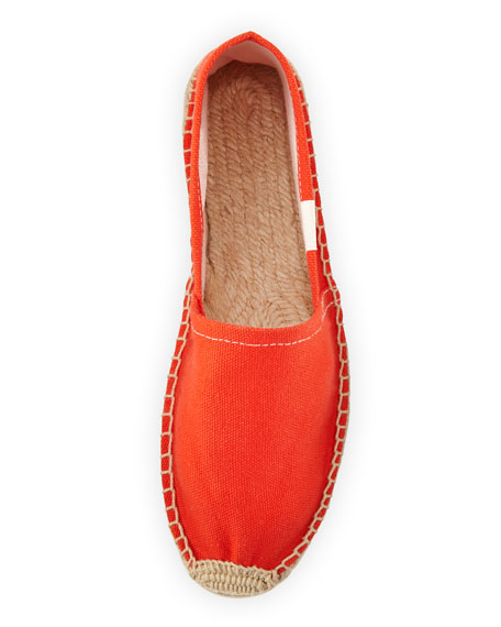 Dali Original Canvas Espadrille Flat, Tangerine Red