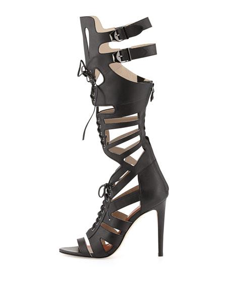 Rita Runway Gladiator Sandal, Black