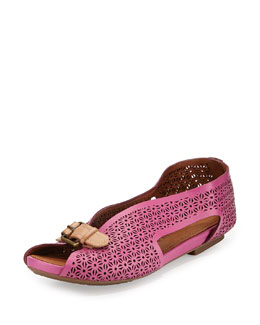 Gentle Souls Bless Word Perforated Slip-On, Fuchsia