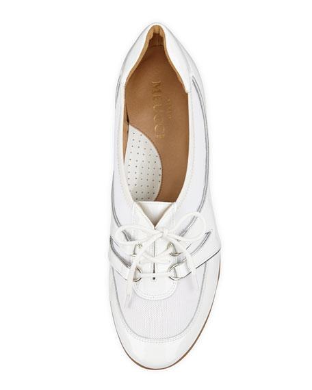 Bonnie Stretch Patent Sneaker, White