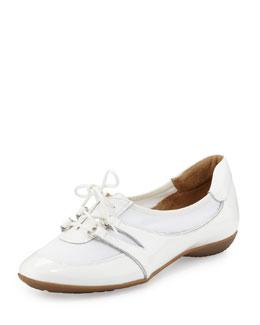 Sesto Meucci Bonnie Stretch Patent Sneaker, White