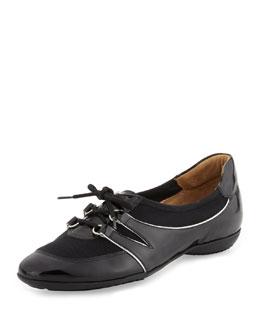 Sesto Meucci Bonnie Stretch Patent Sneaker, Black