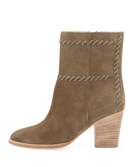 Felice Stitched Suede Bootie, Military