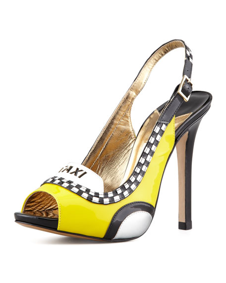 le taxi slingback pump, taxi yellow