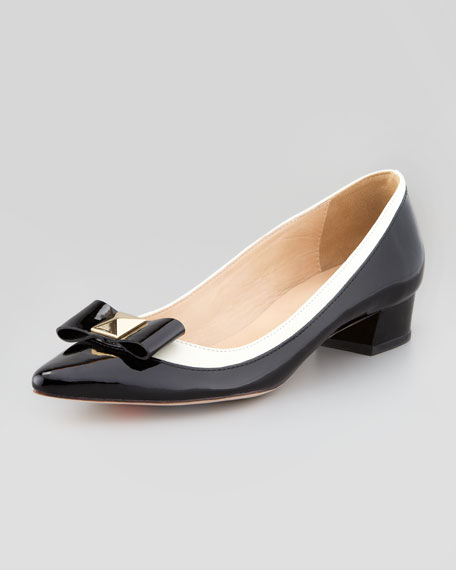anika patent pointed-toe pump