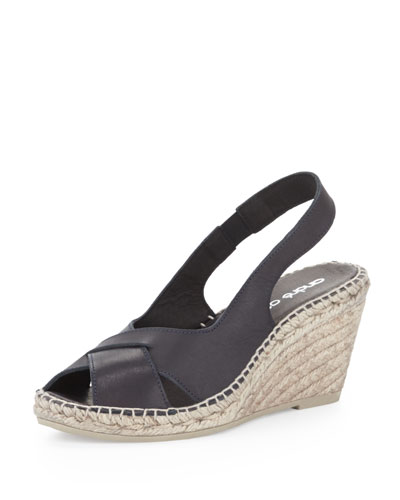 Andre Assous Cortland Slingback Espadrille Wedge, Black