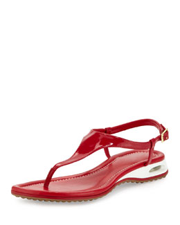 Cole Haan Air Bria Patent Thong Sandal, Tango Red