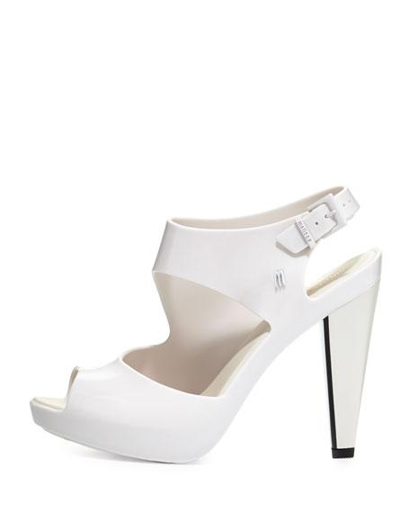 7696d1b820bb Melissa Shoes Estrelicia Asymmetric Jelly Sandal