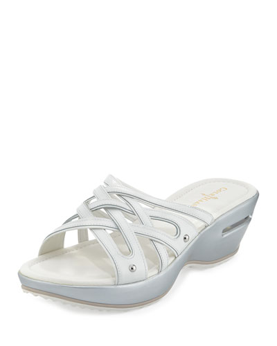 Cole Haan Air Ezra Strappy Wedge, White