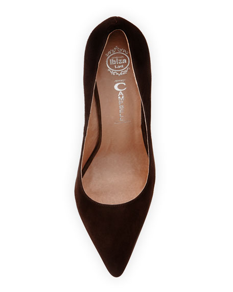 Darling Suede Pump, Brown