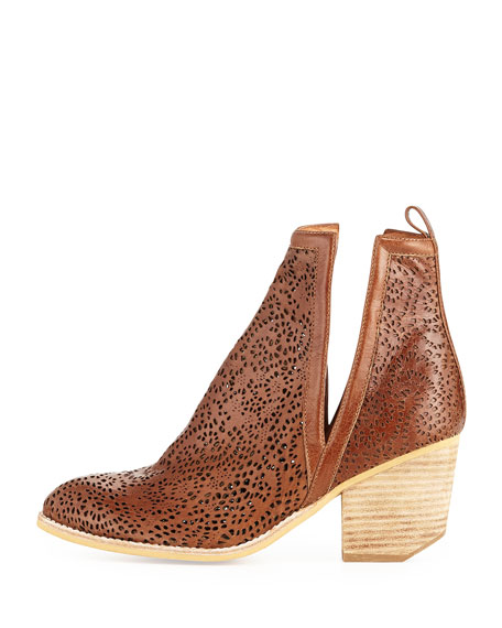 Orwell Paisley Cutout Bootie, Tan