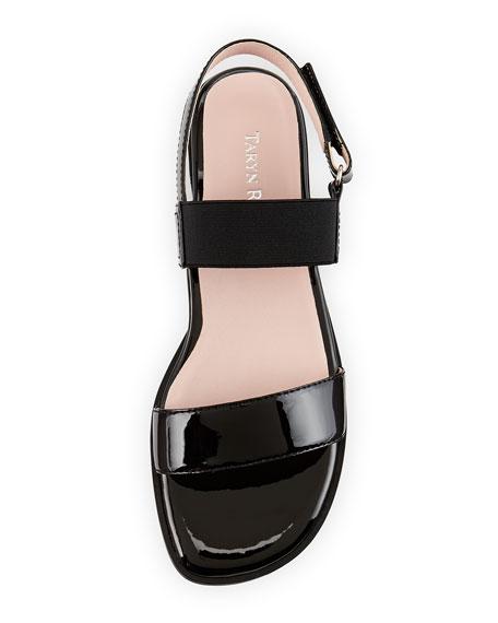 Tamie Patent Double-Strap Sandal, Black