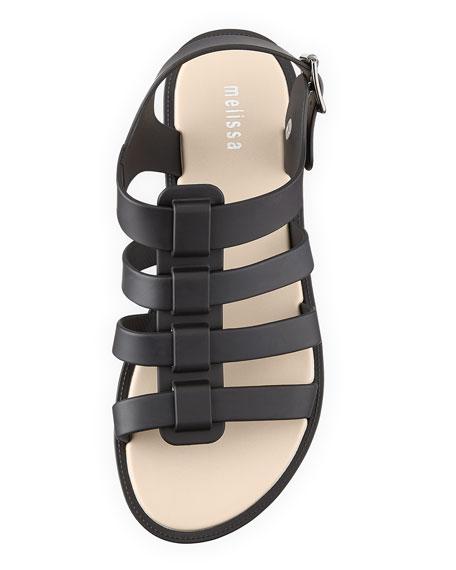 Flox Jelly Gladiator Sandal, Black
