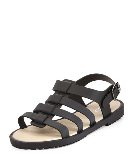 Flox Jelly Gladiator Sandal, Black