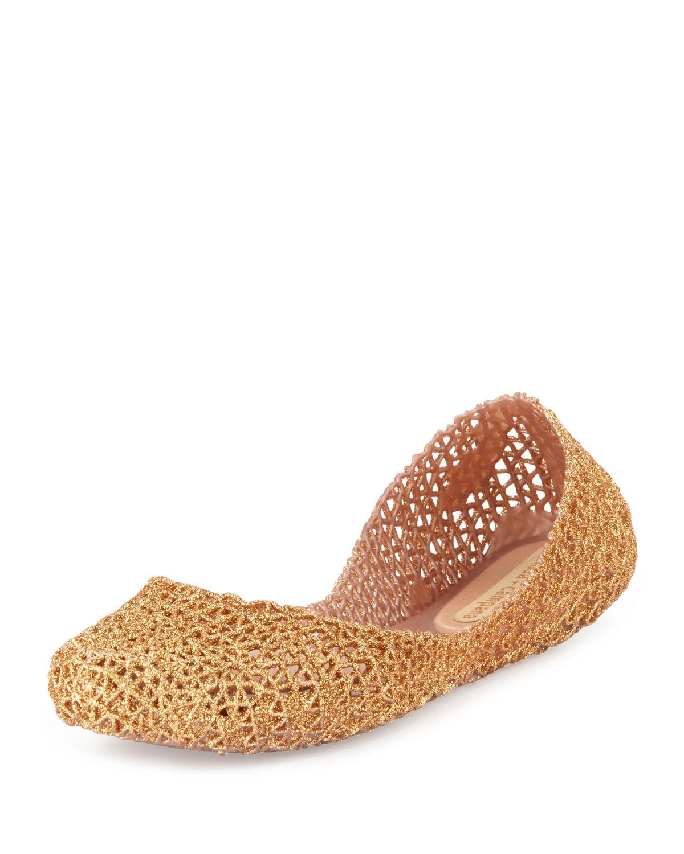 2caceeaddf60 Melissa Shoes Campana Papel V Jelly Flat
