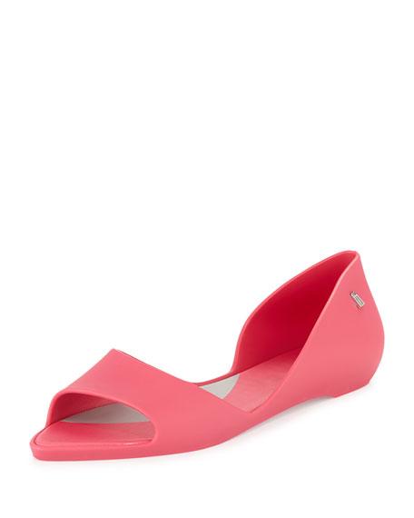 Sweet Dreams Open-Toe Jelly Flat, Pink