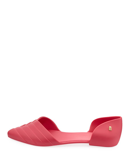 Petal Pointed Jelly d'Orsay Flat, Pink
