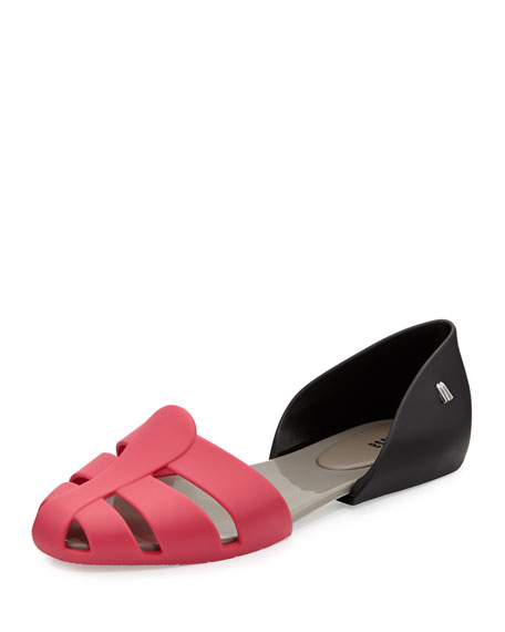 Planehits Two-Piece Jelly Flat, Gray/Pink