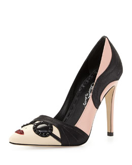 Alice + Olivia Stacey Face Pump, Soft Pink