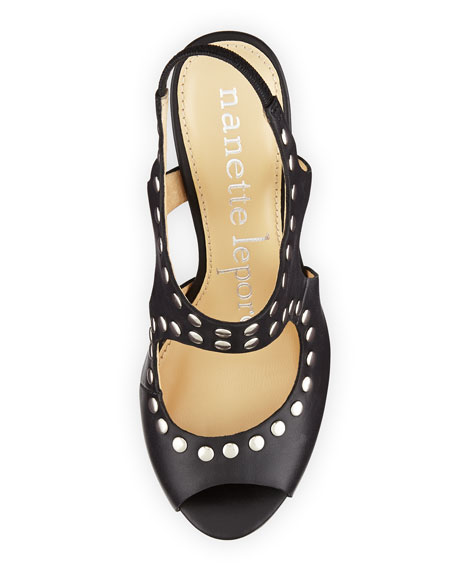 Wanna Have Fun Studded Sandal, Black