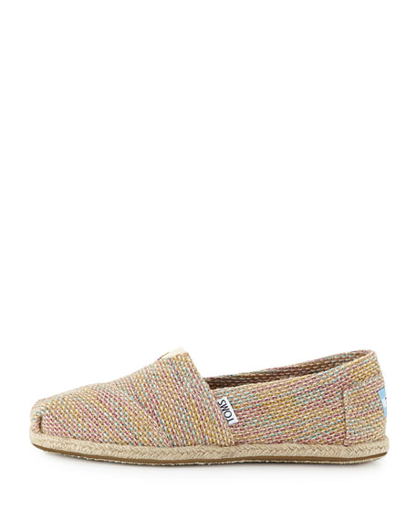 Metallic Burlap Slip-On, Natural Multi