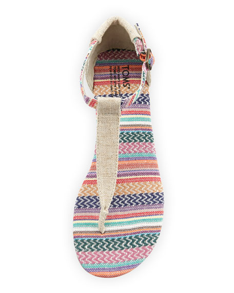 Striped Burlap Playa Sandal