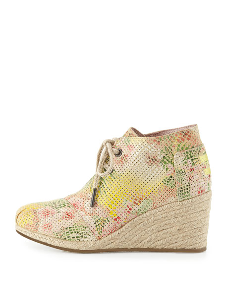 Tropical Serpentine Espadrille Wedge Desert Boot