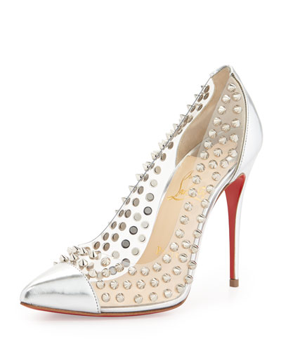 Christian Louboutin Spike Studded Red Sole Pump