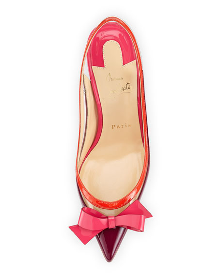 Suspenodo Red-Sole Colorblock Slingback Pump
