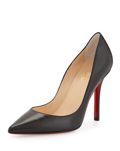 Christian Louboutin Apostrophy Pointed Red-Sole Pump, Black