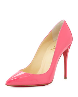 Christian Louboutin Pigalle Follies Point-Toe Red Sole Pump, Pinky