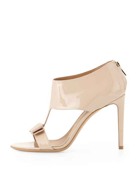 Pellas Patent T-Strap Bow Sandal
