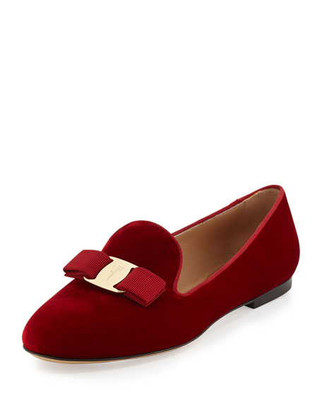 Scotty T Velvet Smoking Slipper, Rosso (Red)