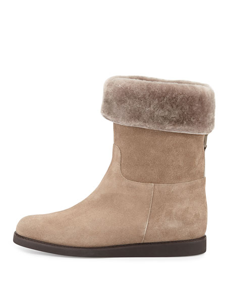 My Ease Low Shearling Boot, Moss