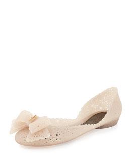 Salvatore Ferragamo Nilly Jelly Bow Ballerina Flat, Sandalo